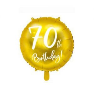 ballon birthday 70 ans - alu