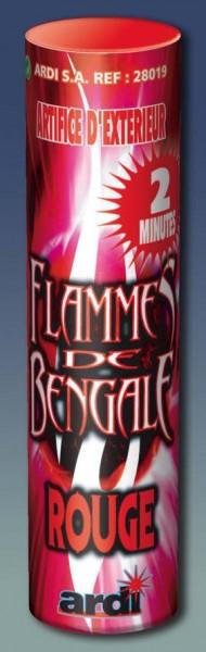 Flamme de bengale rouge 2mn