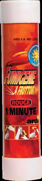 Fumigène à friction rouge