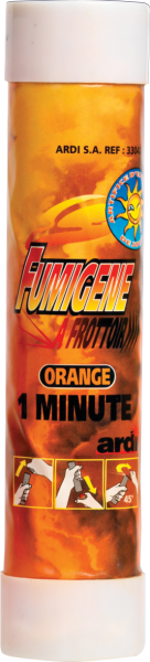 Fumigène à friction couleur orange