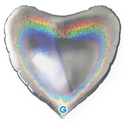 ballon-helium-coeur-holographique-argent-45-cm