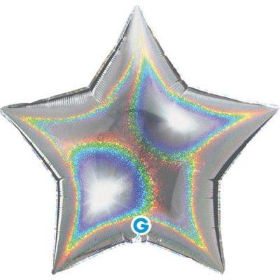 ballon-helium-etoile-holographique-argent-45-cm