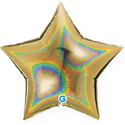 ballon-helium-etoile-holographique-or-45-cm
