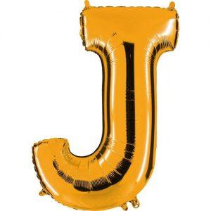 ballon-helium-or-lettre-J