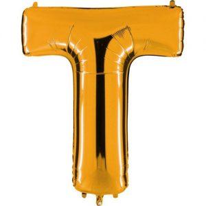 ballon-helium-or-lettre-T