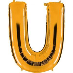 ballon-helium-or-lettre-U