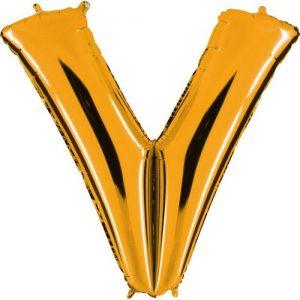 ballon-helium-or-lettre-V