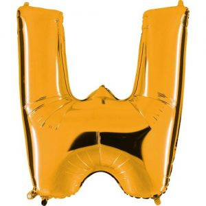 ballon-helium-or-lettre-W