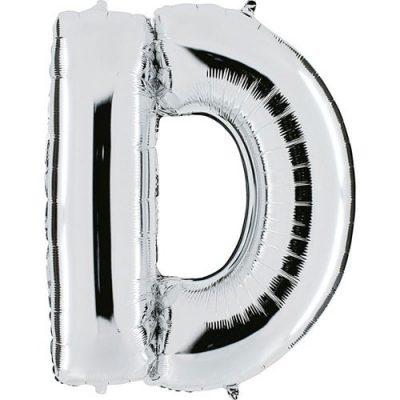 ballon-metallise-argent-lettre-D,-102-cm