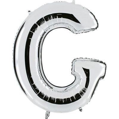 ballon-metallise-argent-lettre-G,-102-cm