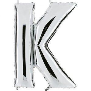 ballon-metallise-argent-lettre-K,-102-cm