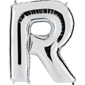 ballon-metallise-argent-lettre-R,-102-cm