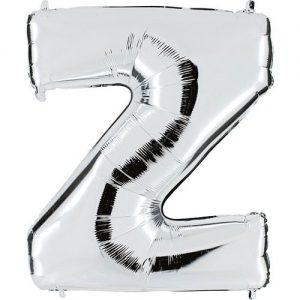 ballon-métallisé-argent-lettre-Z,-102-cm