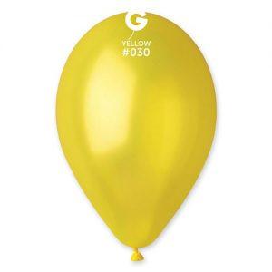 sachet-de-50-ballons-jaune-métallisé-helium