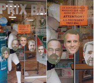 masques en pharmacie - Boutique de déguisements à Paris - Clown de la République - Académie du Bal costumé - Location et vente de déguisements et accessoires de déguisement